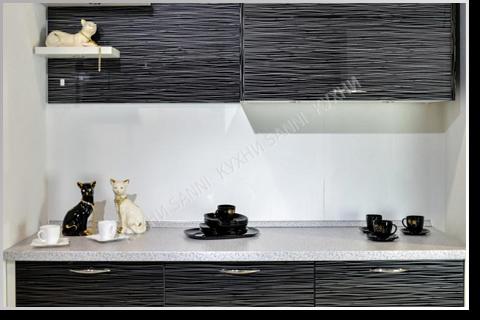 Кухонный гарнитур Флорида черная