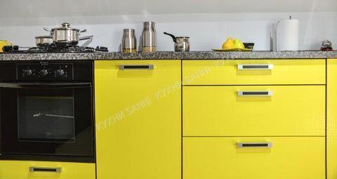 Кухонная мебель Сабрина желтый/черный
